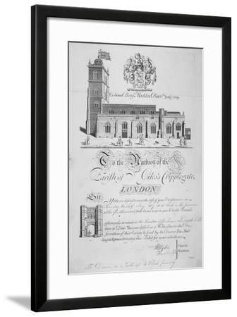 Church of St Giles Without Cripplegate, City of London, 1827-John Sturt-Framed Giclee Print