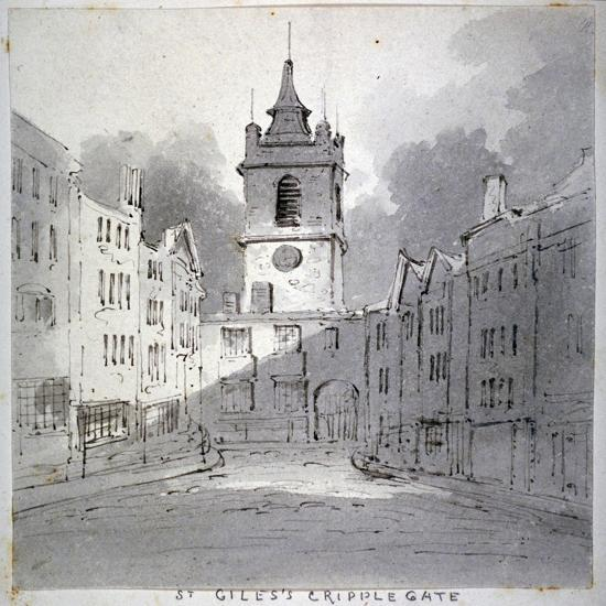 Church of St Giles Without Cripplegate from Fore Street, City of London, 1790-John Claude Nattes-Giclee Print