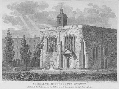Church of St Helen, Bishopsgate, City of London, 1808-Samuel Rawle-Giclee Print