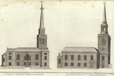 Church of St John, Southwark and Church of St Mary, Rotherhithe--Giclee Print