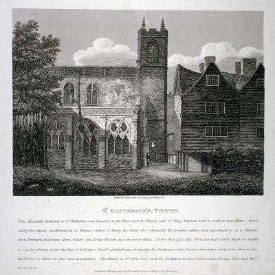 Church of St Katherine by the Tower, Stepney, London, 1810-W Preston-Giclee Print