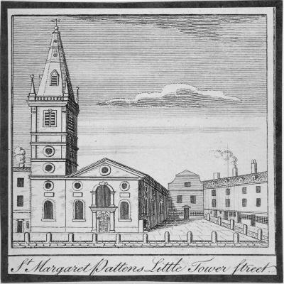 Church of St Margaret Pattens, Little Tower Street, City of London, 1750--Giclee Print