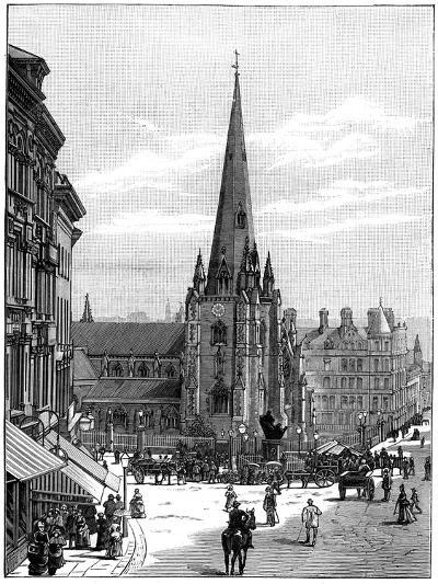 Church of St Martin in the Bull Ring, Birmingham, West Midlands, 1887--Giclee Print