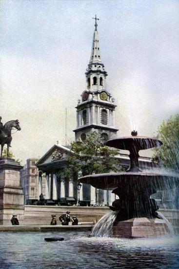 Church of St Martin-In-The-Fields, Trafalgar Square, London, C1930S-Herbert Felton-Giclee Print