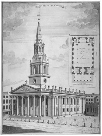 Church of St Martin-In-The-Fields, Westminster, London, C1730