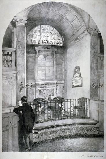 Church of St Martin Outwich, City of London, C1838-Daniel Pasmore-Giclee Print