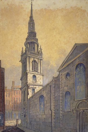 Church of St Mary Le Bow from Bow Churchyard, City of London, C1815-William Pearson-Giclee Print