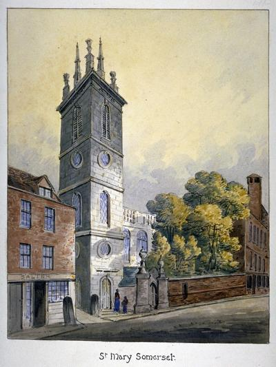 Church of St Mary Somerset, City of London, C1815-William Pearson-Giclee Print