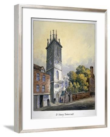 Church of St Mary Somerset, City of London, C1815-William Pearson-Framed Giclee Print