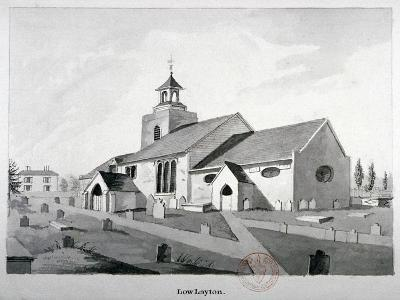 Church of St Mary the Virgin, Leyton, Waltham Forest, London, C1800--Giclee Print