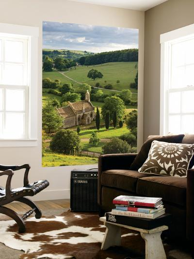 Church of St Mary the Virgin Surrounded by Beautiful Countryside, Lasborough in the Cotswolds-Adam Burton-Wall Mural