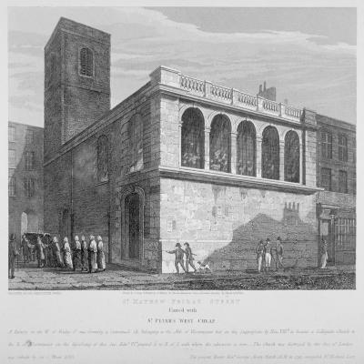 Church of St Matthew, Friday Street, City of London, 1814-Joseph Skelton-Giclee Print