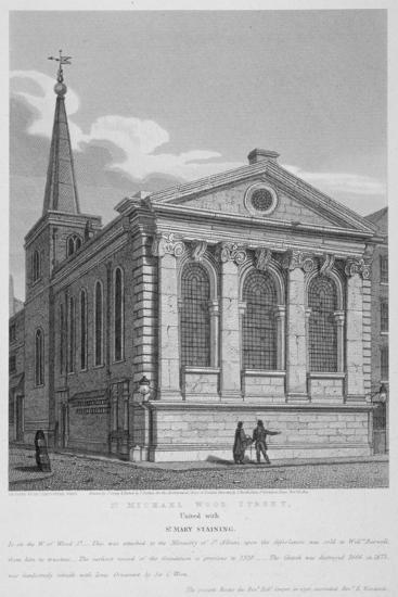 Church of St Michael, Wood Street, City of London, 1814-Joseph Skelton-Giclee Print