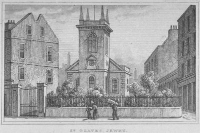 Church of St Olave Jewry, from Ironmonger Lane, City of London, 1830--Giclee Print