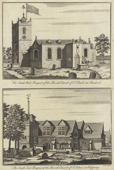 Church of St Paul, Shadwell and Church of St John, Wapping--Giclee Print