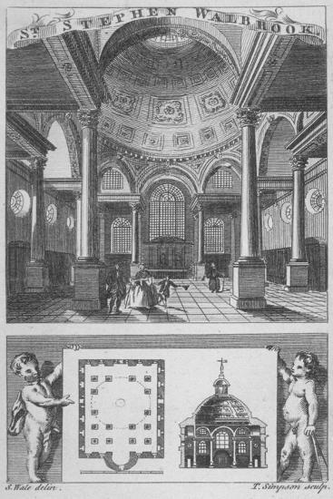 Church of St Stephen Walbrook, City of London, 1770-Edward Rooker-Giclee Print