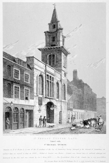 Church of St Vedast Foster Lane, City of London, 1814-Samuel Rawle-Giclee Print