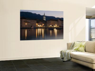 Church of Sv. Ivan (St John) and Waterfront Buildings at Night-Will Salter-Wall Mural