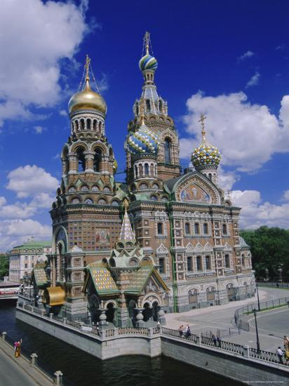 Church of the Resurrection (Church on Spilled Blood), St. Petersburg, Russia, Europe-Gavin Hellier-Photographic Print