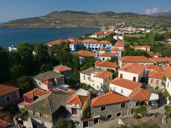 Church of the Sweet Kissing Virgin, Petra, Lesvos, Mithymna, Northeastern Aegean Islands, Greece-Walter Bibikow-Photographic Print