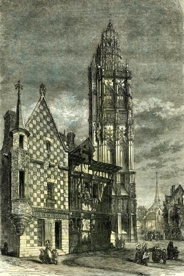 Church of Verneuil France 1848--Giclee Print