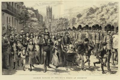 Church Parade of the Scots Greys at Brighton-Godefroy Durand-Giclee Print