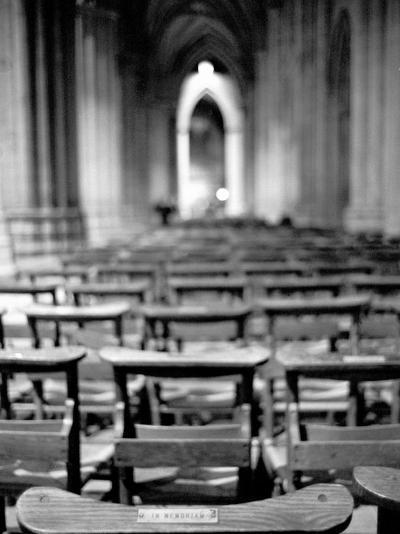 Church Pews, Interior National Cathedral-Walter Bibikow-Photographic Print