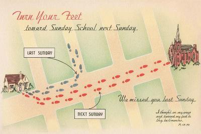 Church Reminder--Art Print
