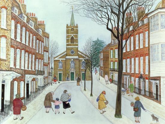 Church Row II, Hampstead-Gillian Lawson-Giclee Print