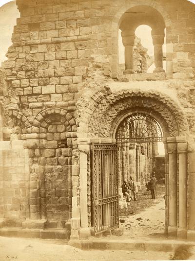 Church Ruins with Three Men-Roger Fenton-Photographic Print