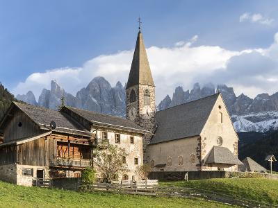 Church Sankt Magdalena, Villnoess Valley. Geisler Mountains. Italy-Martin Zwick-Photographic Print