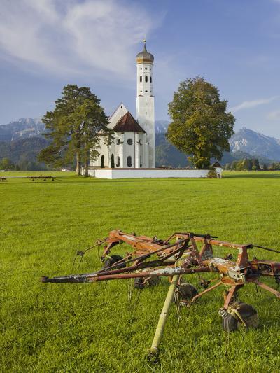 Church St Coloman, FŸssen, AllgŠu, Upper Bavaria, Bavaria, Germany-Rainer Mirau-Photographic Print