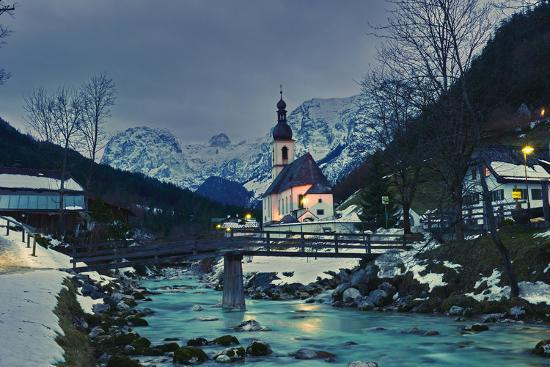 Church St Sebastian in Ramsau-Stefan Sassenrath-Photographic Print