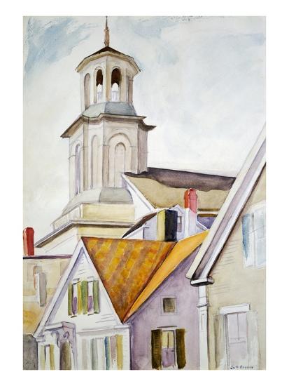 Church Steeple and Rooftops-Edward Hopper-Giclee Print