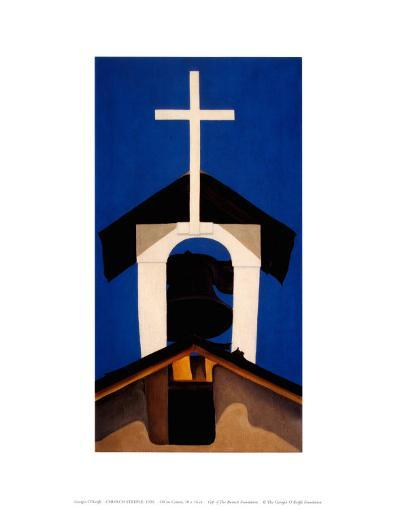 Church Steeple-Georgia O'Keeffe-Art Print