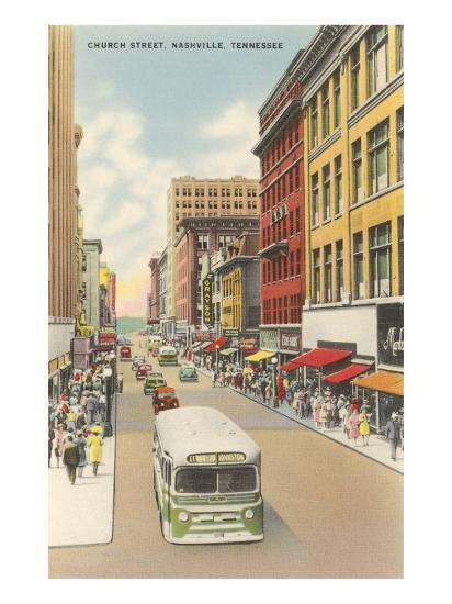 Church Street, Nashville, Tennessee--Art Print
