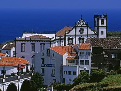Church Tower Dominates the Town of Nordeste on the Island of Sao Miguel, Azores-William Gray-Photographic Print