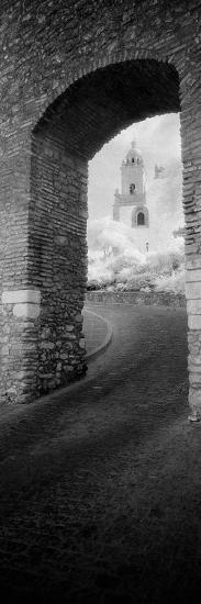 Church Viewed Through an Archway, Puerta Del Sol, Medina Sidonia, Cadiz, Andalusia, Spain--Photographic Print