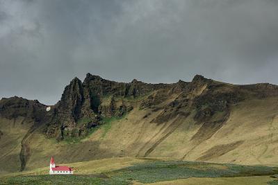Church, Vik, Iceland, Polar Regions-Bill Ward-Photographic Print