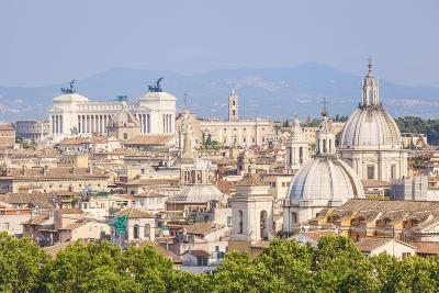 Churches and Domes of the Rome Skyline Showing Victor Emmanuel Ii Monument in the Distance, Rome-Neale Clark-Photographic Print