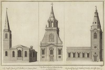 Churches of St Swithin--Giclee Print