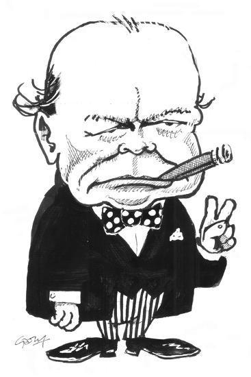Churchill-Gary Brown-Giclee Print