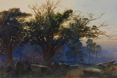 Churchyard at Bettws-Y-Coed-George Sheffield-Giclee Print