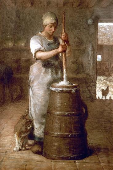 Churning Butter, 1866-1868-Jean-Fran?ois Millet-Giclee Print