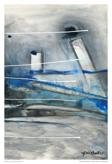 Chutes - T3-Sylvie Cloutier-Art Print