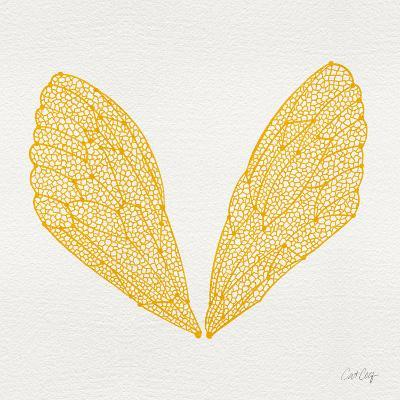 Cicada Wings in Yellow Ink-Cat Coquillette-Giclee Print
