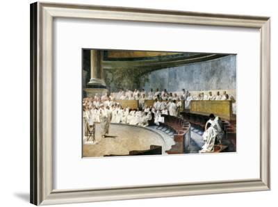 Cicero Denouncing Catiline-Cesare Maccari-Framed Art Print