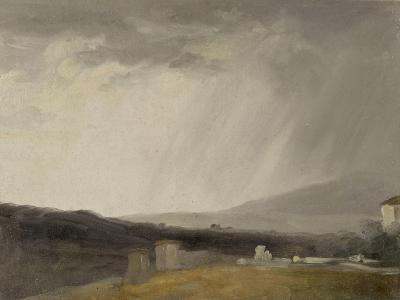 Ciel à la Villa Borghèse : temps de pluie-Pierre Henri de Valenciennes-Giclee Print