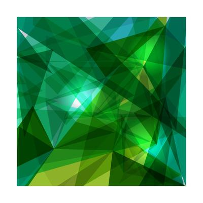 Blue and Green Geometric Pattern