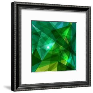 Blue and Green Geometric Pattern by cienpies